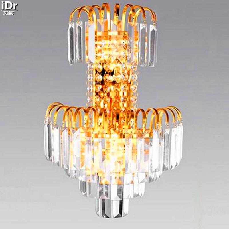 Современный стильный роскошный кристаллический светильник, лампа для спальни, лампа для учебы, Светильники для прохода, настенные светильн