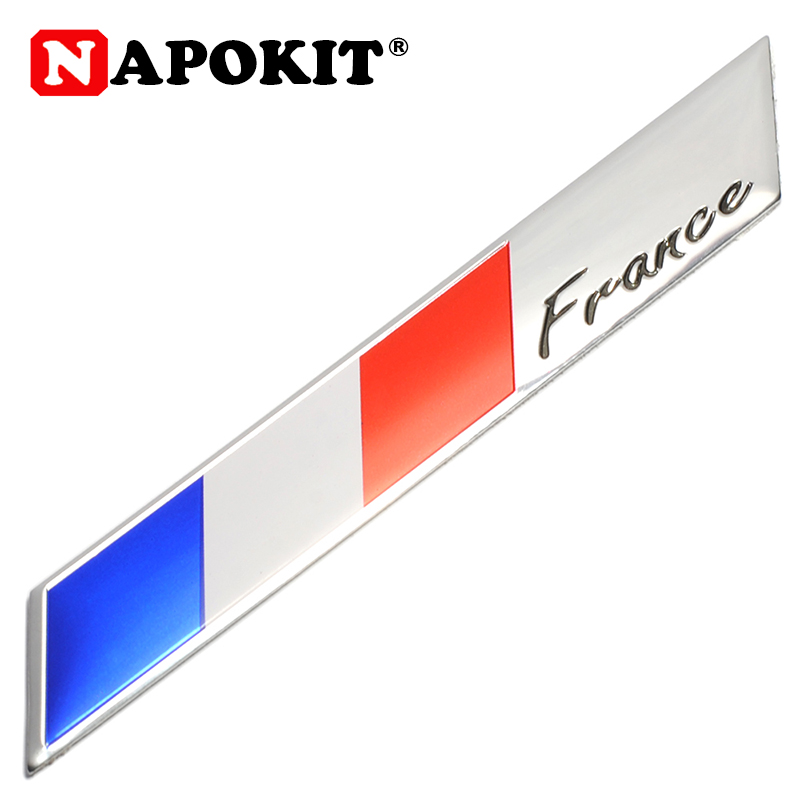 3D Metal France Flag Car Sticker Accessories Sticker For Renault Peugeot Citroen Cruze Chevrolet Ford Focus Audi Golf Benz BMW