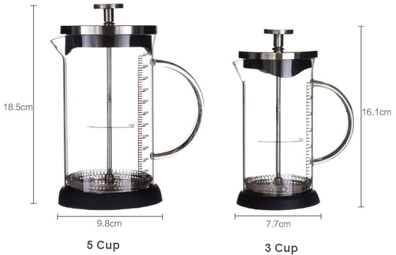 Coffee Maker French Hand Press 350ML 600ML Cafeteira Espresso Glass Stainless Steel Coffee Machine Filter Coffee Pot Percolator (3)
