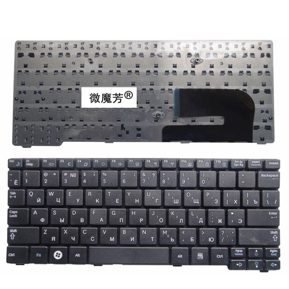 RU Black New FOR Samsung N148 NB20 NB30 NB30P N143 N145 N148P N150 N128 Laptop Keyboard Russian цена