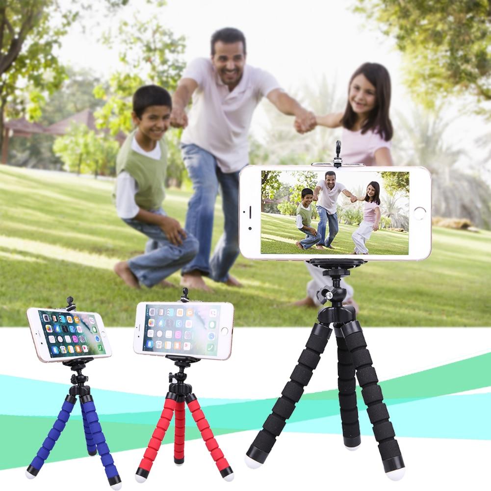 Mini Tripod Phone Holder Mount Selfie Portable Camera Tabletop Travel - Ανταλλακτικά και αξεσουάρ κινητών τηλεφώνων - Φωτογραφία 2