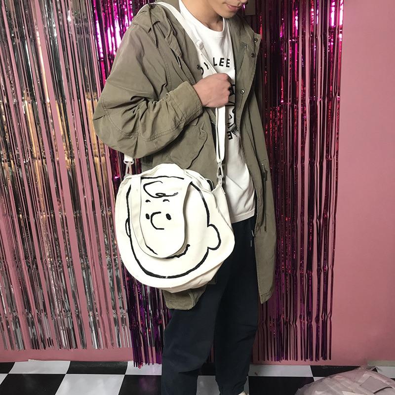 Fashion Cartoon Printing Women Canvas Bags Shoulder Bags 2019 New Arrival Female Casual Soft Zipper Canvas Handbags