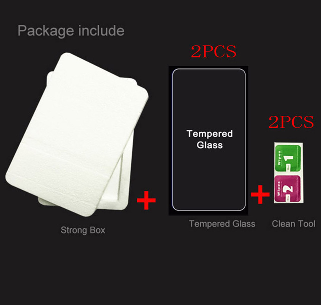 2pcs Tempered Glass for Lenovo Vibe K5 Note 2018 K350t Play Note Pro plus  Explosion-proof Protective Film Screen Protector 5