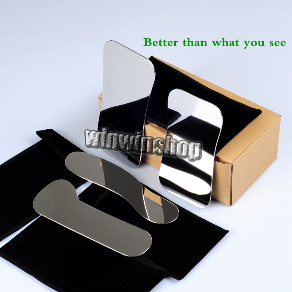 4Pcs Dental Stainless Steel Photographic Intra-oral Clinic Mirror+1S+1L Black Background Board 5pcs set oral clinic stainless steel photographic mirror reflector and 4pcs 2set s l double headed retractor opener dental lab