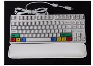 Image 4 - Free shipping gaming keyboard 104 PU wrist rest arm rest mechanical keyboard 87 PU palm rest support