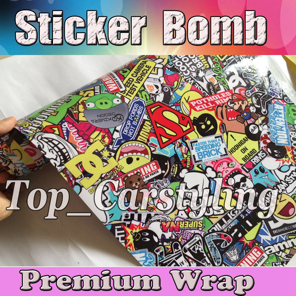 Audi r8 partial car wrapping sticker bomb stickerbomb by - Jdm Illest Stickerbomb Wrap Car Wrap Styling Graphic Foil Sticker Bomb Car Decals With Air Bubble