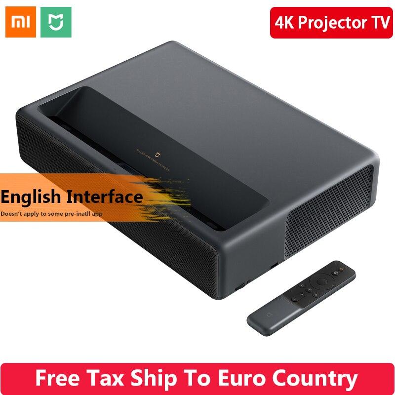 Originale di 2019 Xiaomi Norma Mijia Laser di Proiezione TV 4K Home Theater 200 Inch Wifi 2G di RAM 16G Inglese interfaccia Supporto HDR DOLBY DTS