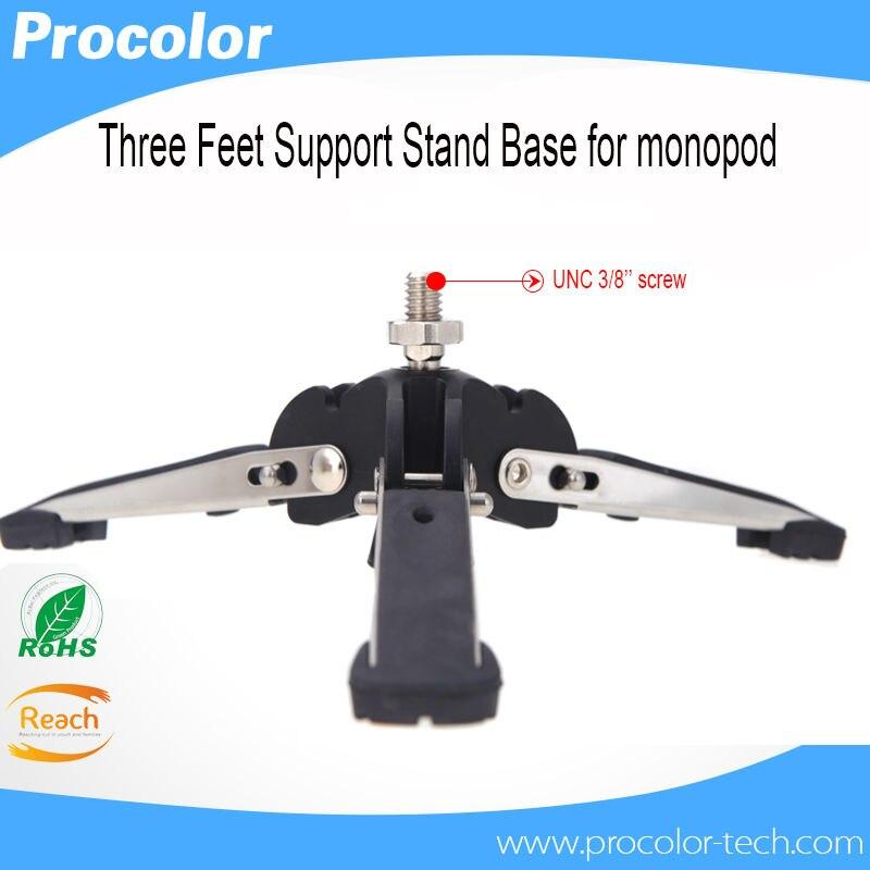 Base de soporte monopod Andoer Universal Monopod Soporte de tres patas con tornillo de 3//8 para Videoc/ámara c/ámaras DSLR