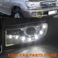 2x Projector Fog Light w/ led angel eye For Toyota Land Cruiser 4700 FJ100 98 07
