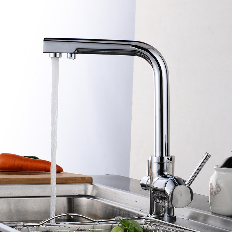 Fapully Kitchen Faucet Mixer Double Spout Drinking Water Filter Tap Kitchen  Faucets Purified Water Spout Torneira Cozinha In Kitchen Faucets From Home  ...