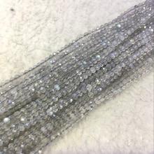 2 мм/3 мм 2 нити/упаковка вырезанное лицо AA натуральный Лабрадорит Spectrolite полудрагоценные ювелирные украшения с камнями свободные бусины