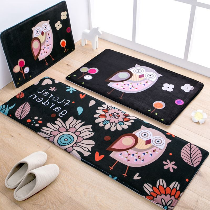 aliexpress : buy 50x80+45x120cm/set cartoon owl kitchen mat