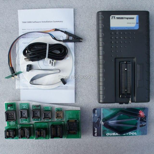 TNM5000 Programador Universal para NAND flash/EEPROM/MCU/PLD/CPLD/FPGA + 10 pcs adaptadores incluindo TSOP48 + clipe de teste