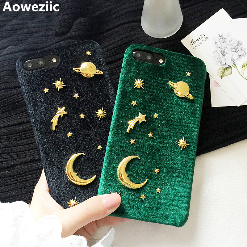 Aoweziic Net red same money Saturn moon X mobile phone shell For iPhone7plus velvet 6S protective sleeve female 8plus