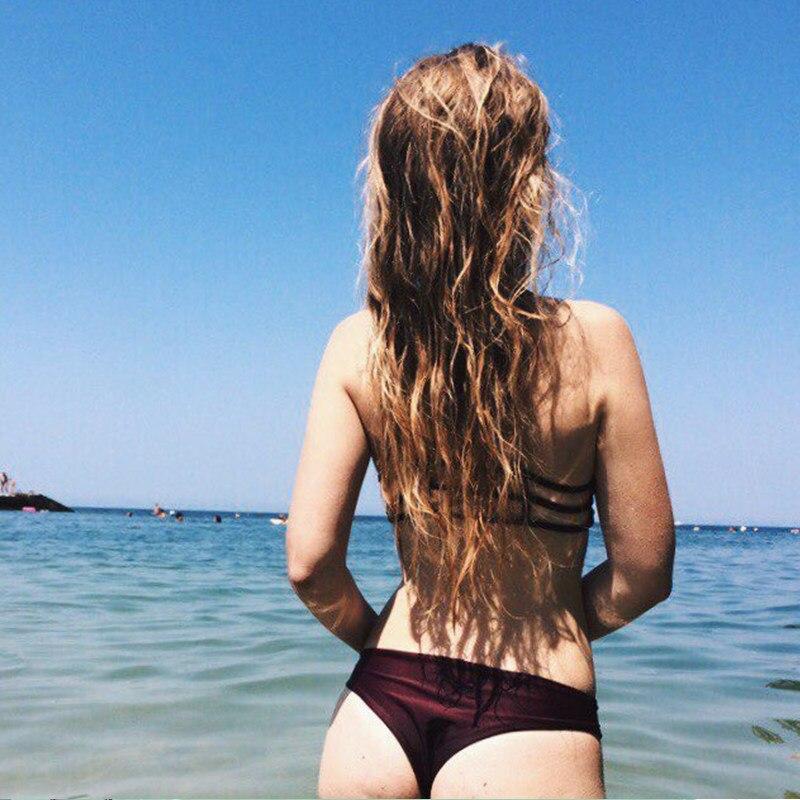 2019 Women Bandage Thong Бразилиялық Bikinis Swimwear - Спорттық киім мен керек-жарақтар - фото 6