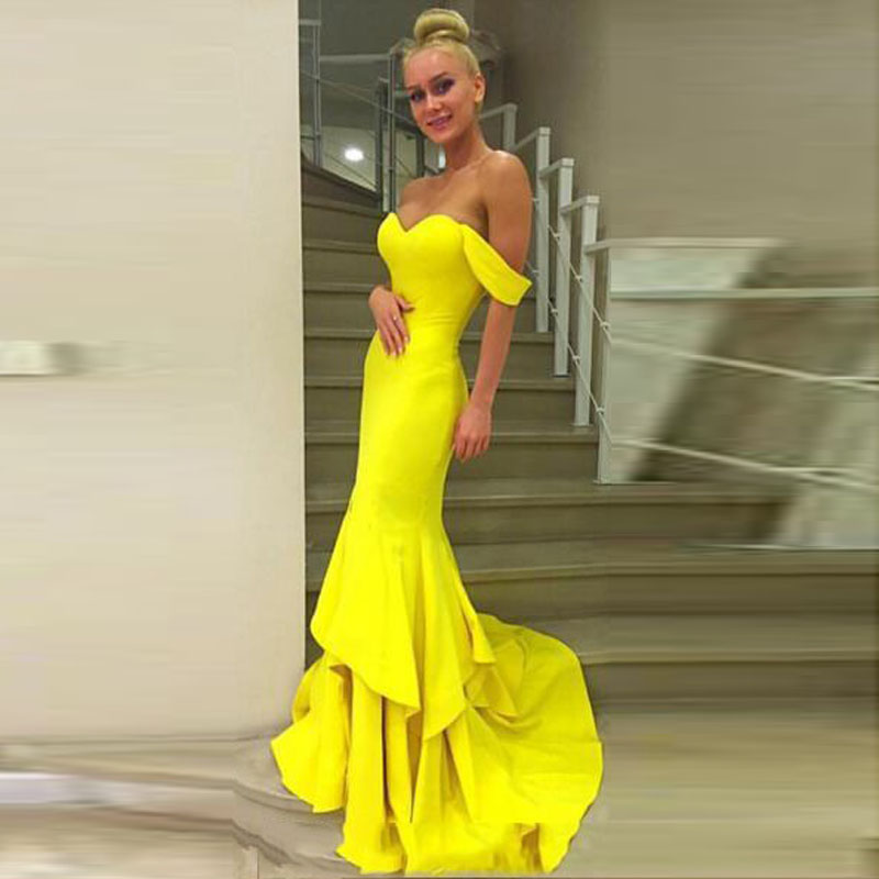Online Get Cheap Bright Yellow Prom Dresses -Aliexpress.com ...