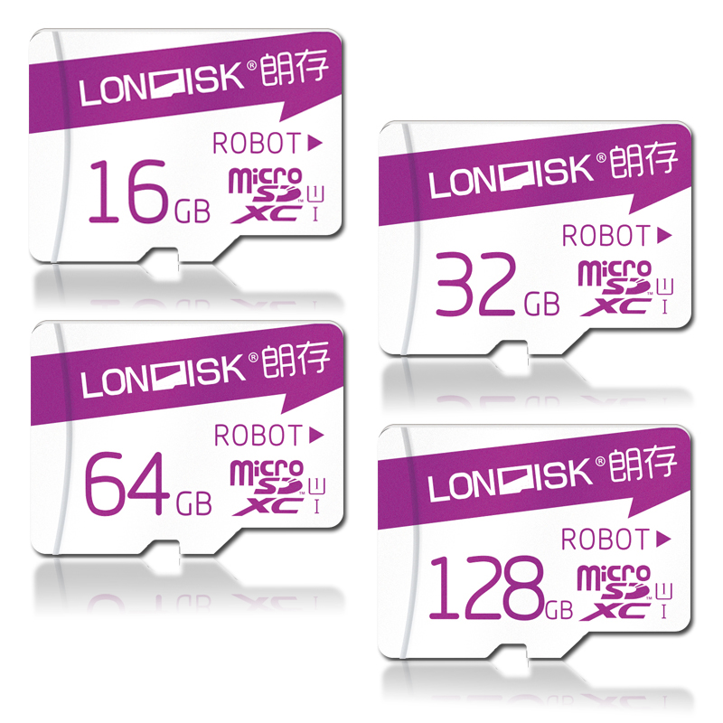 Londisk Robot Series Micro SD Card 16GB 32GB 64GB 128GB Class10 UHS 1 Real Capacity 200GB