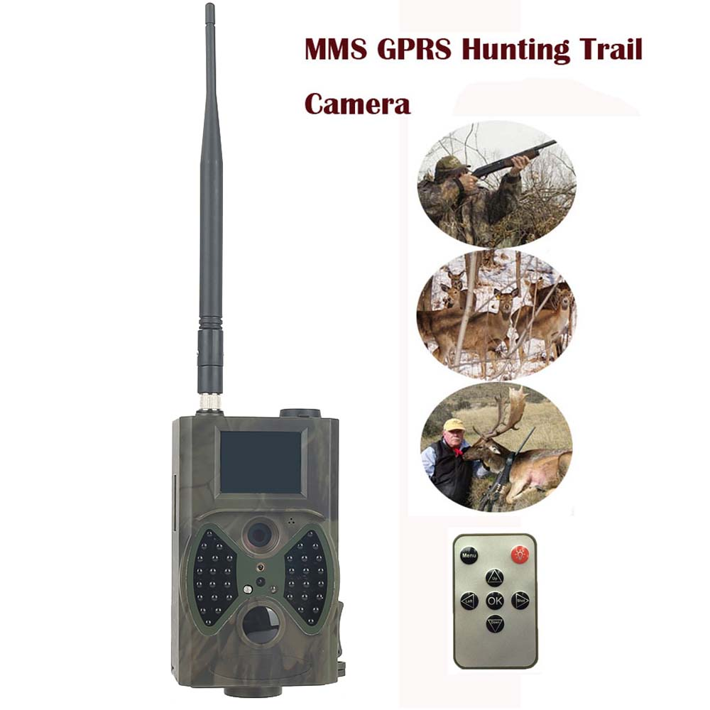 HC300M 12M Hunting Camera Digital Scouting Wildlife Trail Camera Support Remote Control 2G MMS GPRS GSM 940NM Infrared Night arduino atmega328p gboard 800 direct factory gsm gprs sim800 quad band development board 7v 23v with gsm gprs bt module