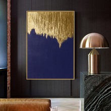 100% Hand painted Modern golden Art Oil Painting On Canvas Wall Adornment pictures For Living Room Home Decor