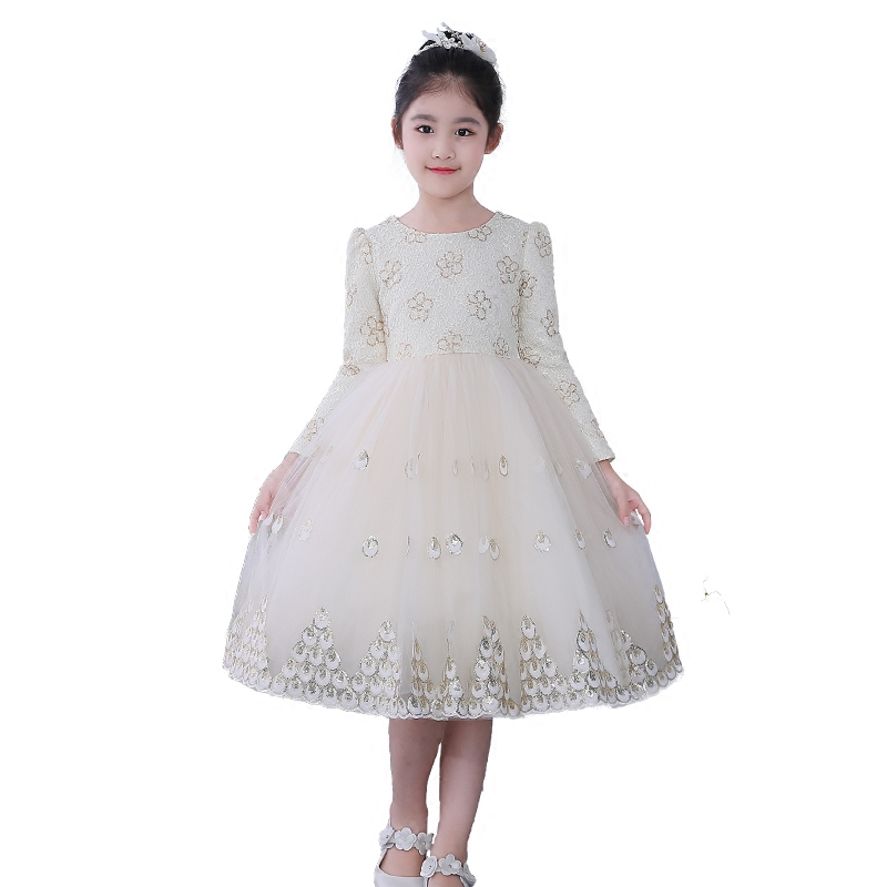 Kdis Girl Clothes Children Clothing Winter 2018 New Children Princess Baby Autumn Winter Girls Dress Long Sleeve Dress 4-9Y 2016 toddler flower girl dress winter children girl clothing autumn kid clothes brand long sleeve princess party wedding vintage