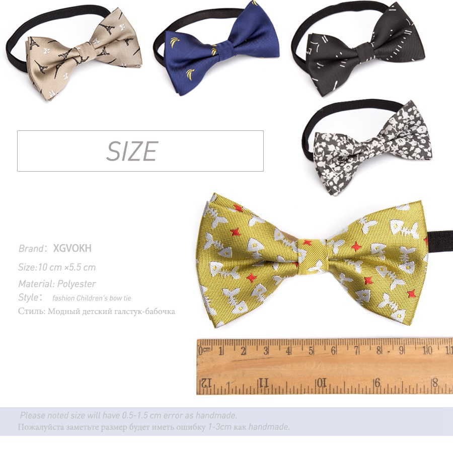 Children bowtie Fashion Ties Formal Bow Tie Baby Kid Polester Bowties Colorful Butterfly Wedding Parties Pet dress necktie 1