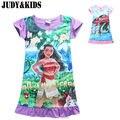 Dresses For Girls Pajamas Night Dress Sea Cartoon Girls Nightgown Kids Nightdress Girl Princess Summer Dress Children Nightgowns