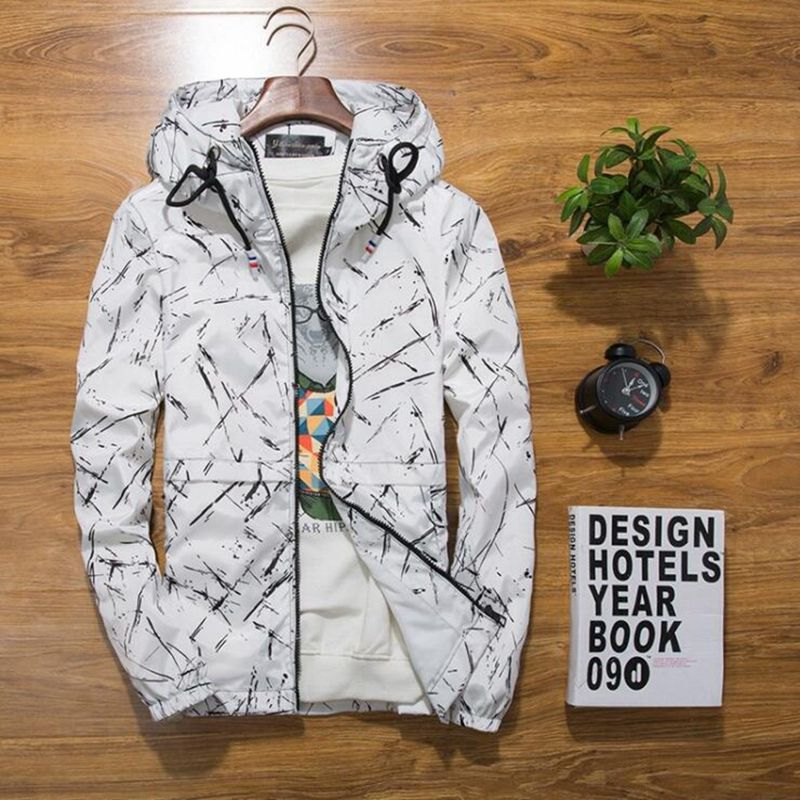 new Spring Autumn Mens Casual Camouflage Hoodie Jacket Men Waterproof Clothes Mens Windbreaker Coat Male Outwear XS-4XL