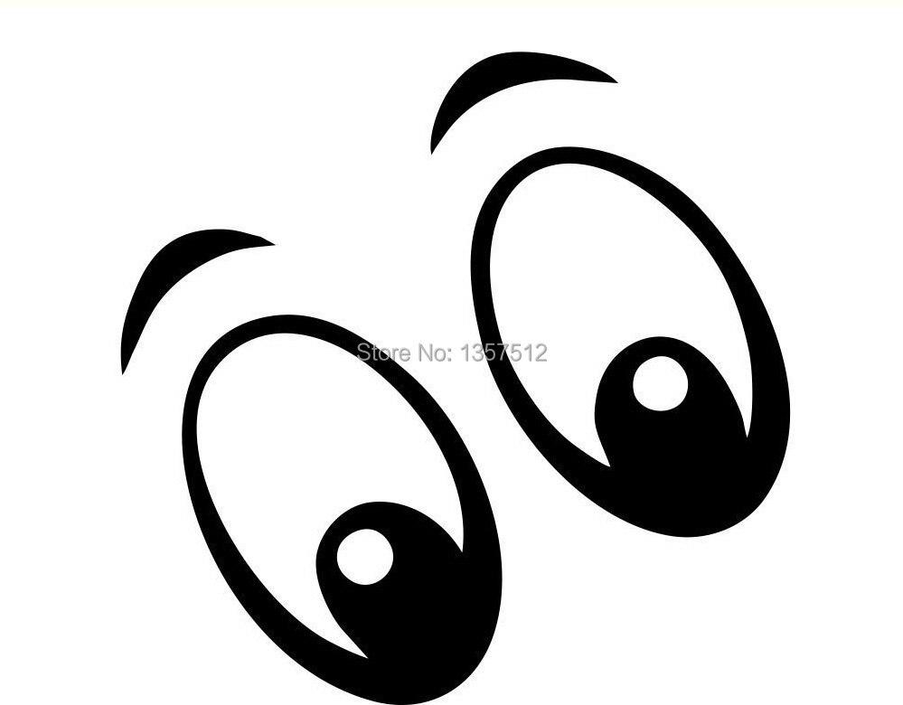 Olhos Dos Desenhos Animados Etiqueta Da Janela Do Carro Vinyl