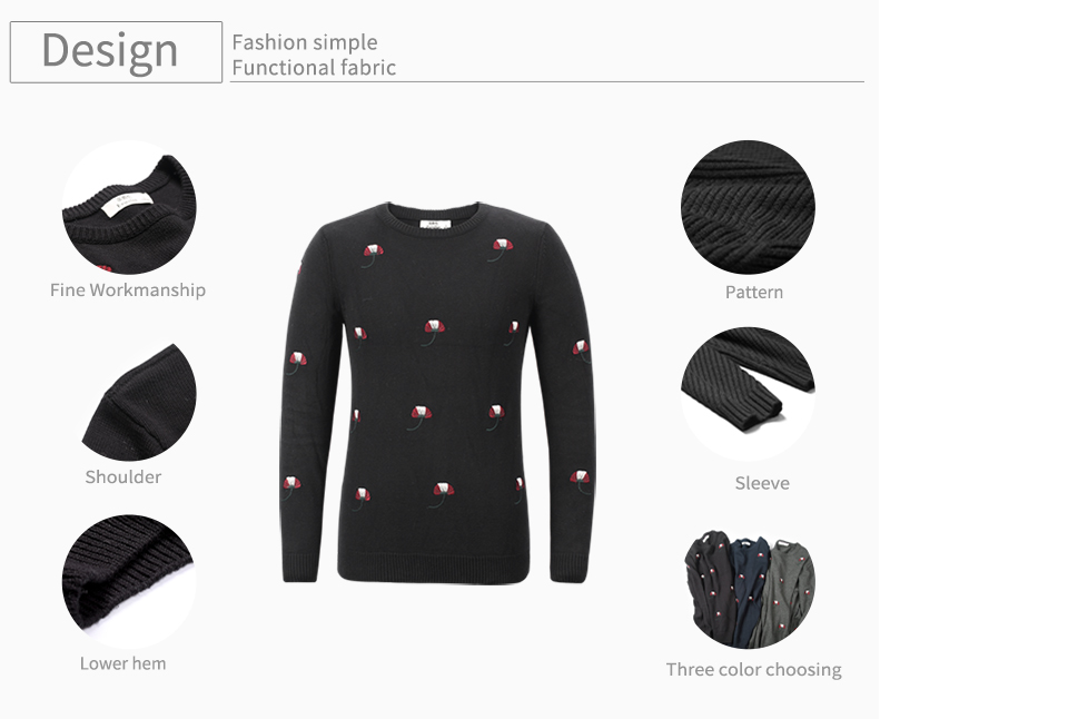 HTB1bI1VXifrK1RjSspbq6A4pFXa1 - Enjeolon brand top fall winter warm knitted pullovers Sweater man 100 Cotton pattern pullober o-neck pullover Sweater men MY3227