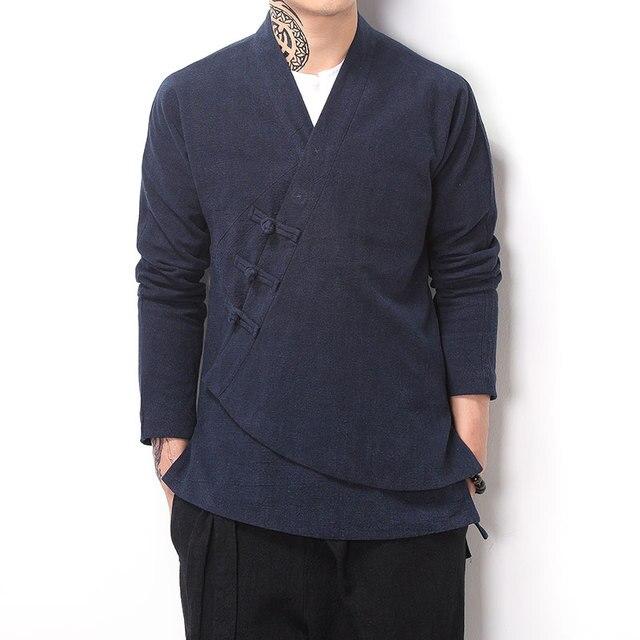oblique cotone Collare Stile retro marea giacca lino cinese cardigan wXYAAq5Hx