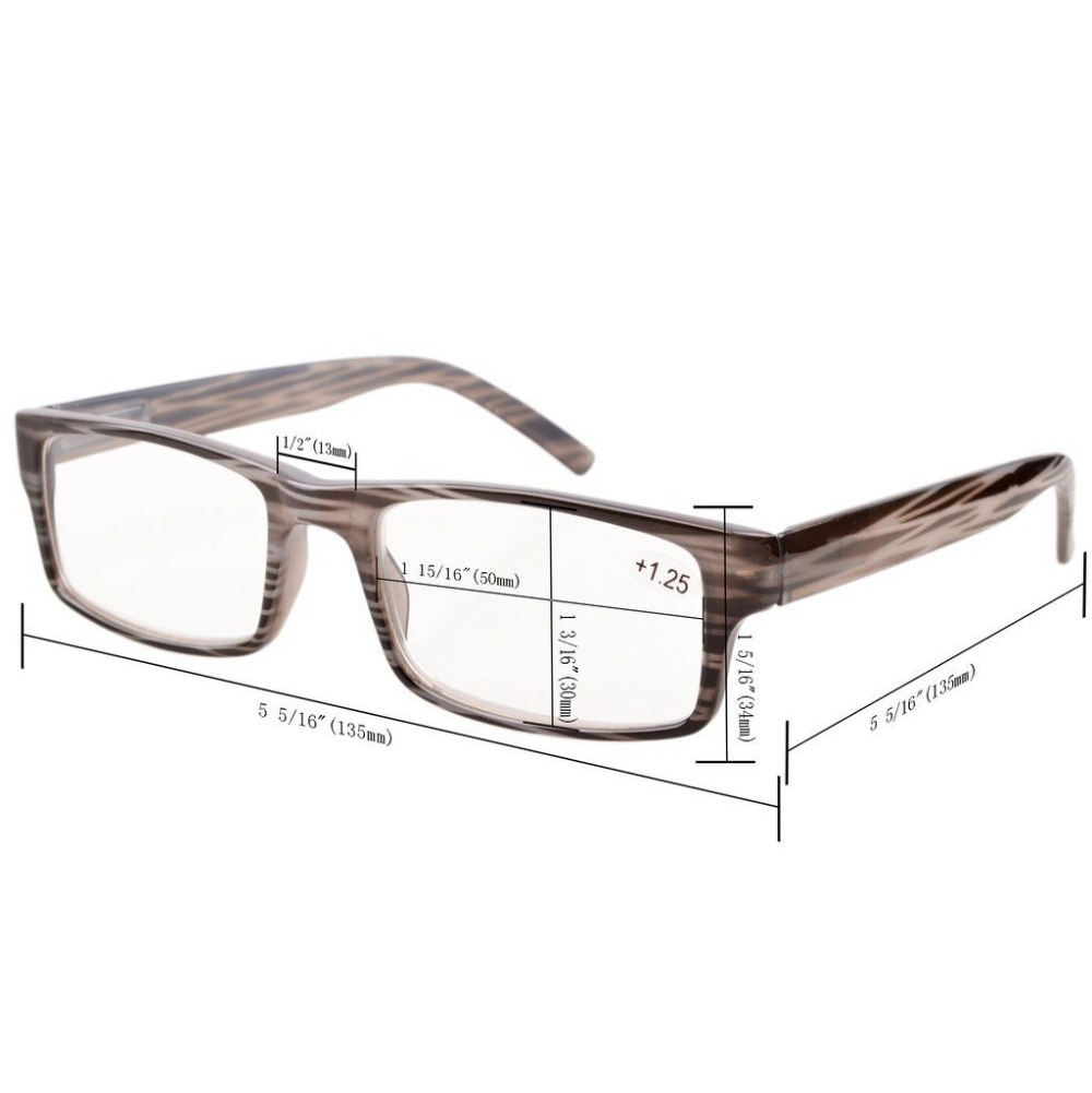 3a17801a3fa R026 Eyekepper Spring Hinge Striped Reading Glasses (3 Pairs) Men Includes Sun  Readers +0.50 +4.00-in Reading Glasses from Apparel Accessories on ...