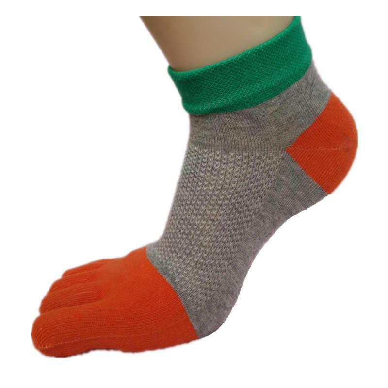 Горячая Распродажа мягкие удобные женские носки с носком Модные Качественные Чистый хлопок пять пальцев носки для девочек милые повседневные короткие носки по голень
