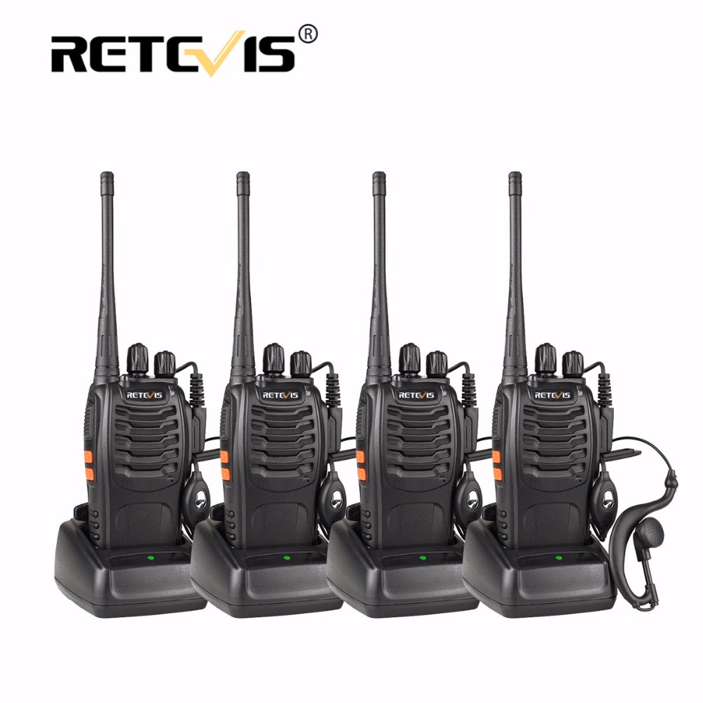 4 pz Portatile Walkie Talkie Retevis H777 16CH UHF Ham Radio Transceiver Hf 2 Way Radio cb Stazione Communicator Walkie-Talkie Set
