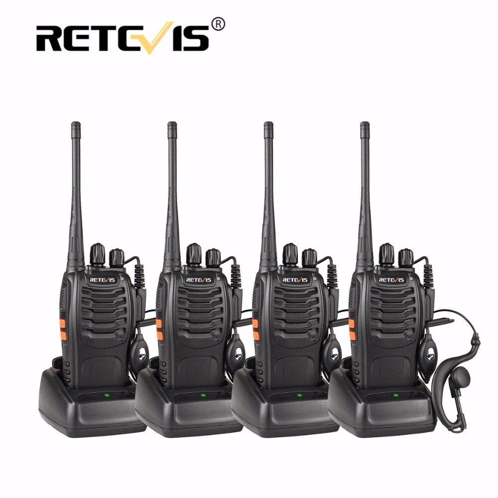 4 unids portátil Walkie-talkies retevis h777 16ch UHF jamón Radios HF transceptor 2 vías CB Radios comunicador ESTACIÓN DE talkie conjunto
