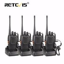 4 шт. портативная рация Retevis H-777 16CH UHF удобный радиолюбителей КВ трансивер двухстороннее CB радио ФИО comunicador H777 Прогулка обсуждение