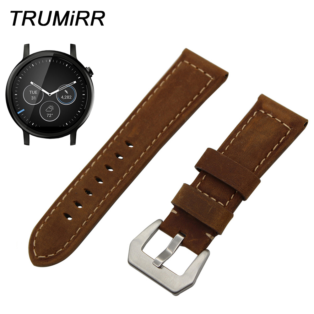 22mm Calf Genuine Leather Watch Band for Motorola Moto 360 2 2nd Gen Mens Strap Stainless Steel Tang Buckle Belt Wrist Bracelet22mm Calf Genuine Leather Watch Band for Motorola Moto 360 2 2nd Gen Mens Strap Stainless Steel Tang Buckle Belt Wrist Bracelet