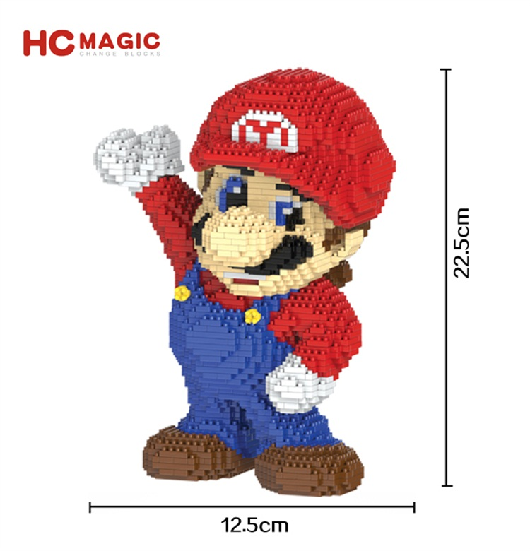 HC Magic Blocks Cartoon Building Toy Big size Mario Game Model Auction Figures DIY Micro Bricks Brinquedo Toys for Children Gift hc big size super mario micro blocks stitch micro blocks diy building toys cute cartoon juguetes auction figures kids gifts 9003