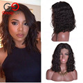 Gossip Girl 7A Malaysian Lace Front Wigs Natural Wave Full Lace Human Hair Wigs For Black Women Short Curly Bob Lace Front Wigs