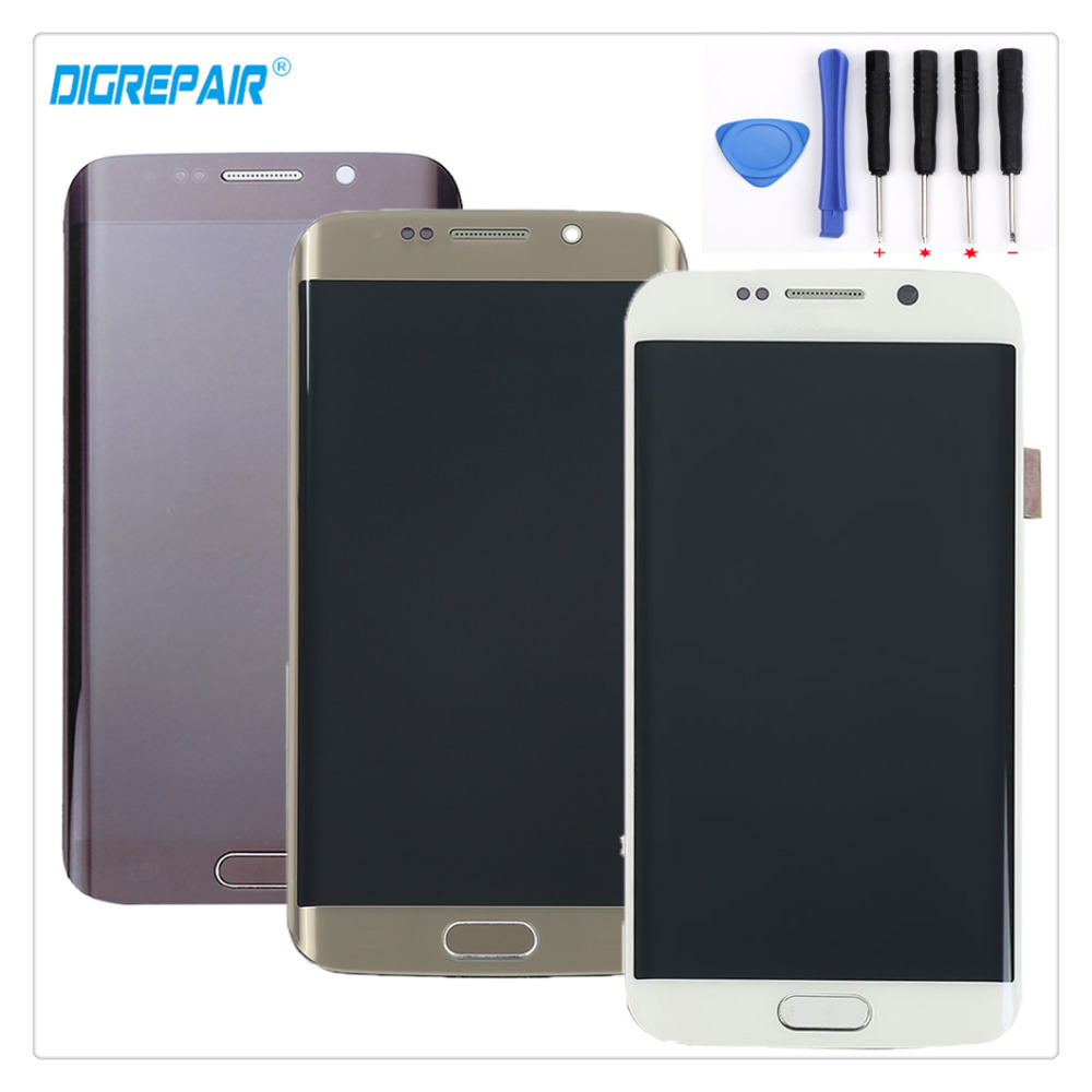 A White Blue Gold For Samsung Galaxy S6 edge SM G925F G925I G925T G925P LCD Display