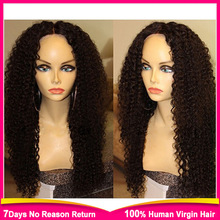 130 Density Full Lace Human Hair Wigs Virgin Brazilian Loose Curly Glueless Full Lace Wig & Lace Front Wigs For Black Women