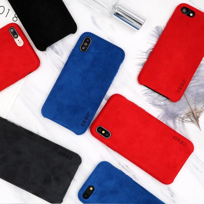 Étui d'origine officiel NEWISDOM pour iPhone X étui en cuir iPhone 7 étui arrière concis pour coque de téléphone Apple 8 plus