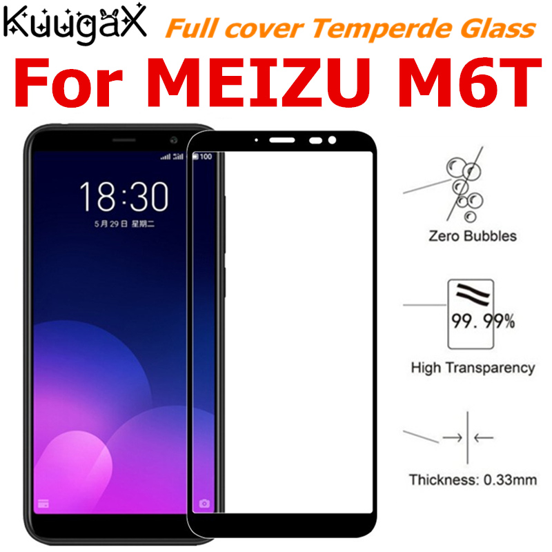 Screen protective all cover Tempered Glass For MEIZU M6T Charm Blue 6T 5 7 inch smartphone