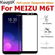Экран защитный все крышка из закаленного Стекло для MEIZU M6T Очарование Голубой 6 т 5,7 дюймов смартфон закаленное витрины на кристаллы