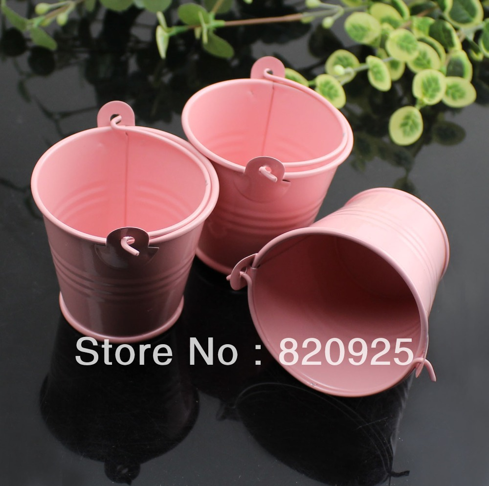 Free Shipping 10x Tin Favor Pails Mini Bucket Boxes Wedding Buffet ...