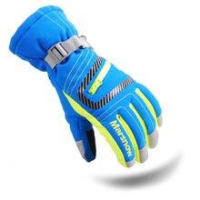 Dropshipping 2017 winter professional ski gloves girls boys waterproof warm gloves Christmas gift snow kids waterproof