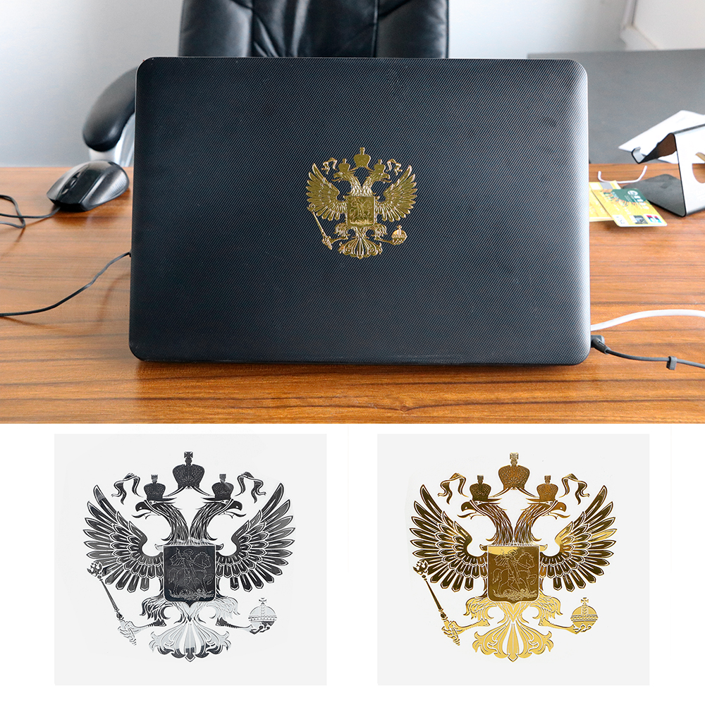 Russian Federation Auto Decals Nickel Metal Sticker Car Styling Coat of Arms of Russia For Laptop Creative 90*90mm Car Sticker russian phrase book
