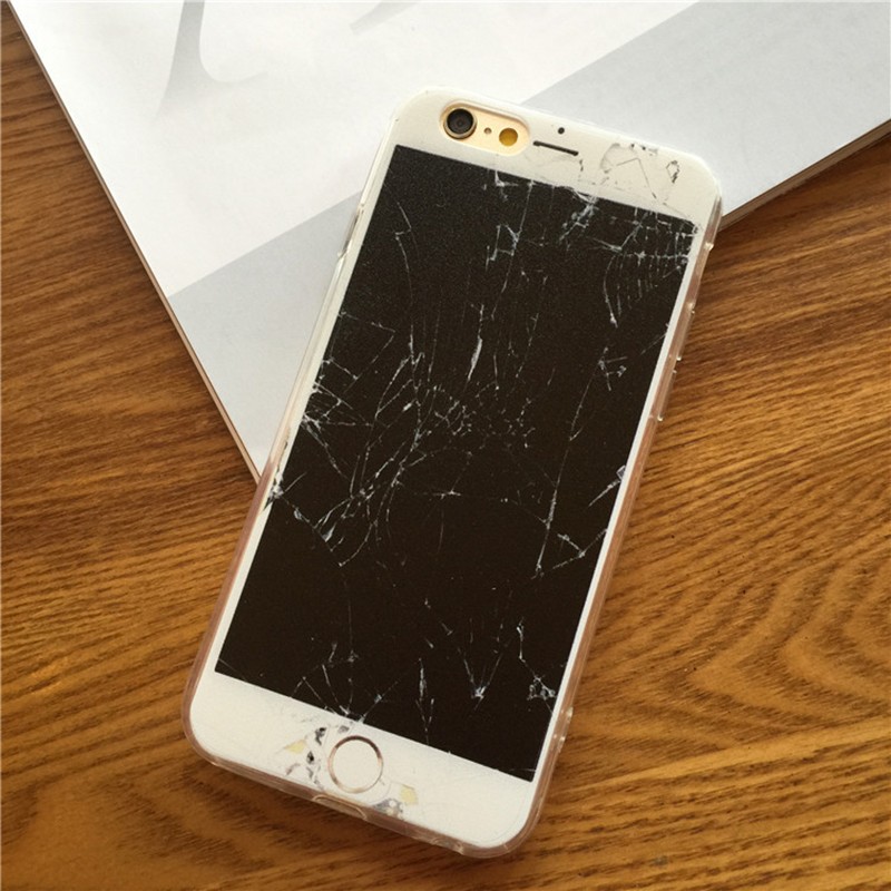 competitive price 15b49 571ec US $3.99  Funny Broken Screen Phone Case for Iphone 6 6s 6plus 6s plus TPU  Soft Cover Protective Spoof Coque on Aliexpress.com   Alibaba Group