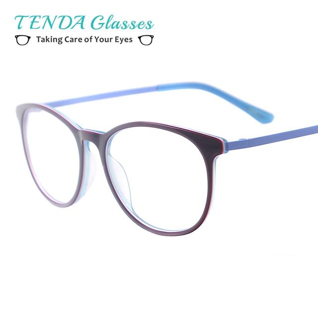 Mulheres Acetato Redonda Pequena Óculos Homens Do Vintage Óculos de Aro  Completo Para Prescrição de Lentes ff55025a5a