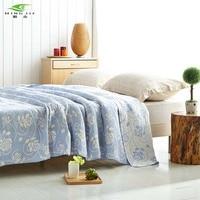 New 2017 Throw Blanket 1pcs 200 230cm 100 Cotton Blankets Three Layers Gauze Plaid Rose Blanket