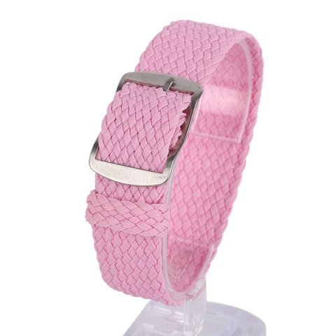 Newest Fashion 16 18 20 22MM Nylon Straps Watches Straps Weave  Watchband  Watch Band  Wristband Colorful Color Multan